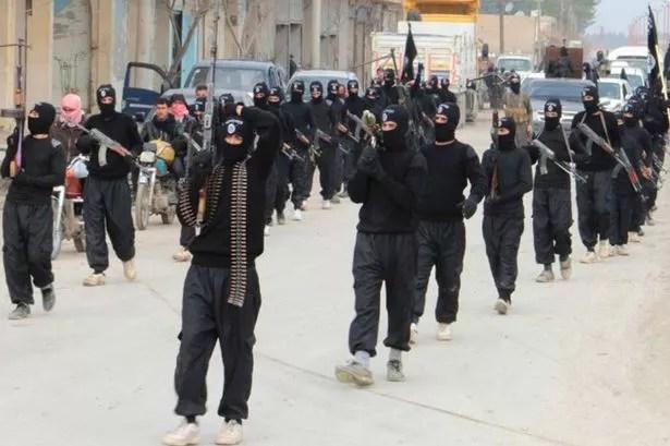 Hooded ISIS gunmen