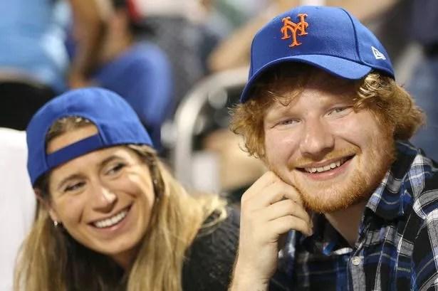 Ed Sheeran with his girlfriend Cherry Seaborn