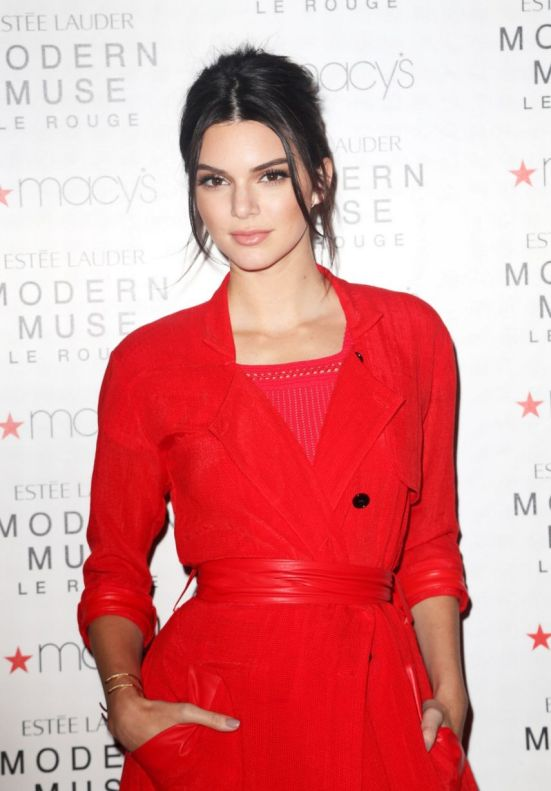 """Kendall Jenner Launches the new Estee Lauder Fragrance-""""Modern Muse Le Rouge"""" at Macy's-NY"""
