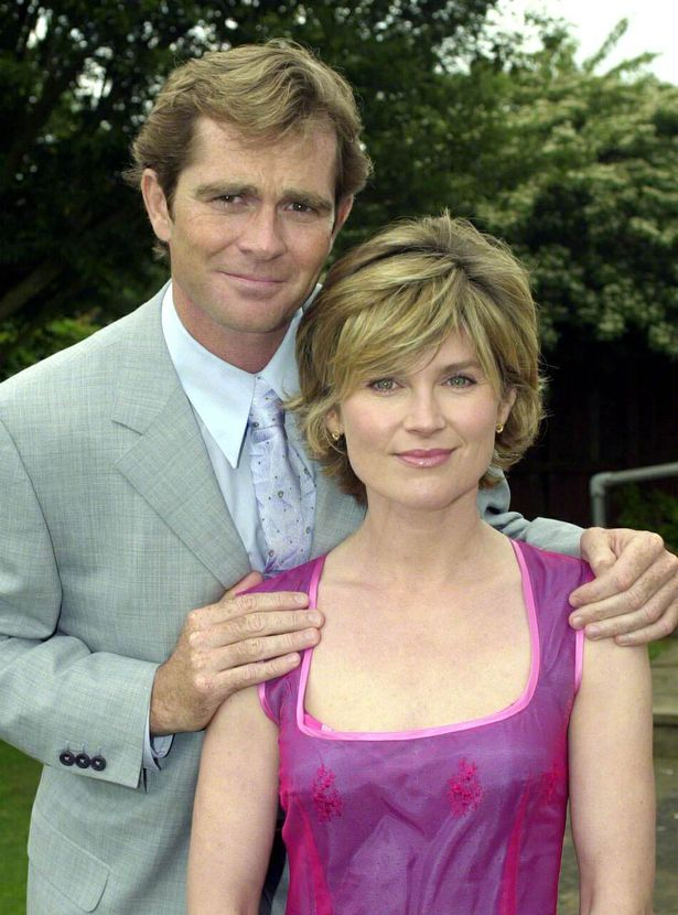 Anthea Turner with boyfriend Grant Bovey at the Guards Polo Club, Windsor.