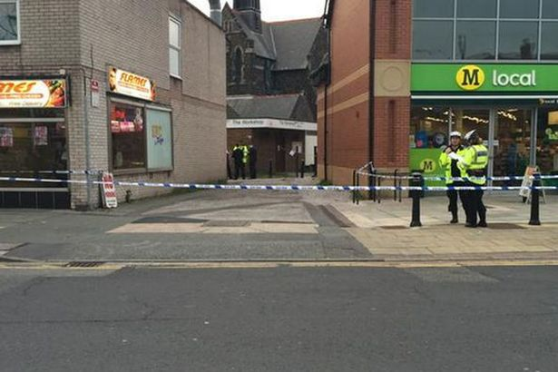 An area on Brows Lane was cordoned off after an alleged stabbing