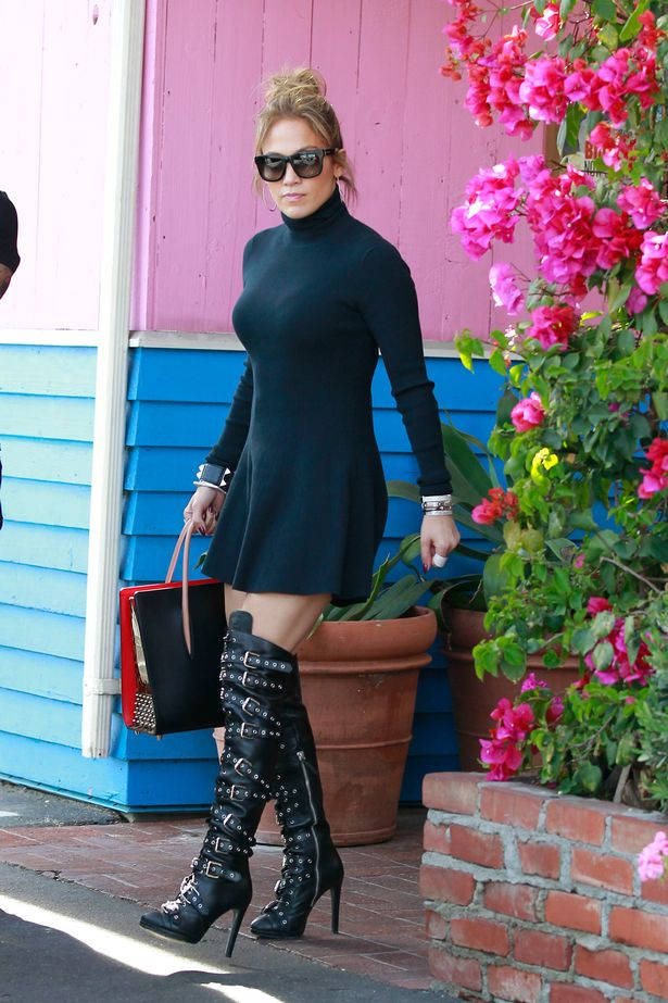 Jennifer Lopez and James Corden seen filming The Late Late Show. After filming the show Jennifer went to have lunch at Pink Taco in West Hollywood, CA