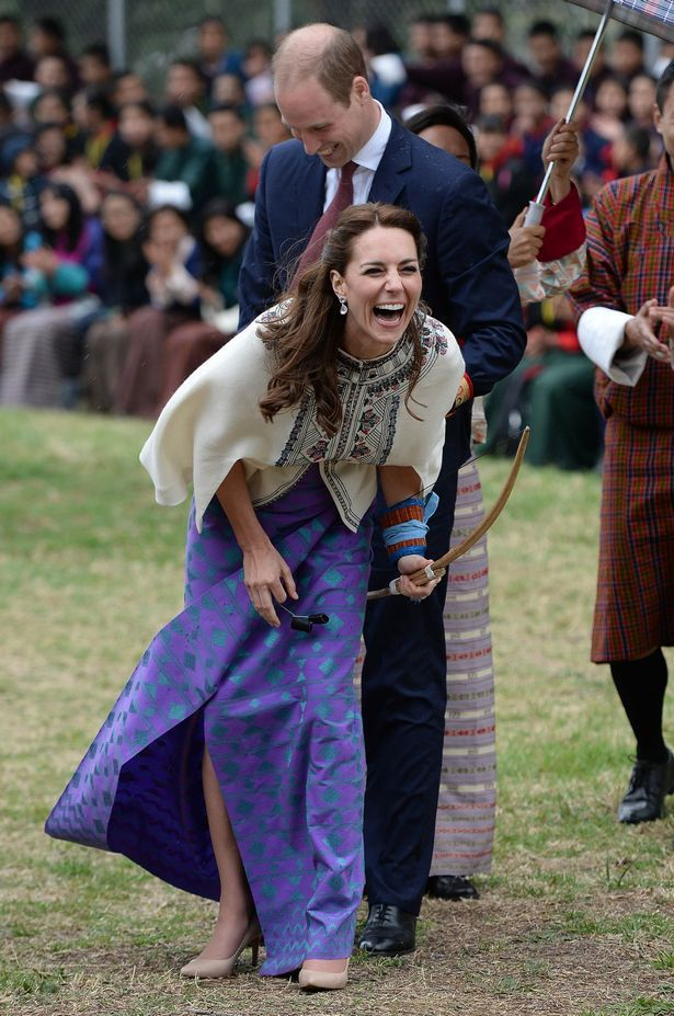 The Duke and Duchess of Cambridge visit the Bhutan National Stadium