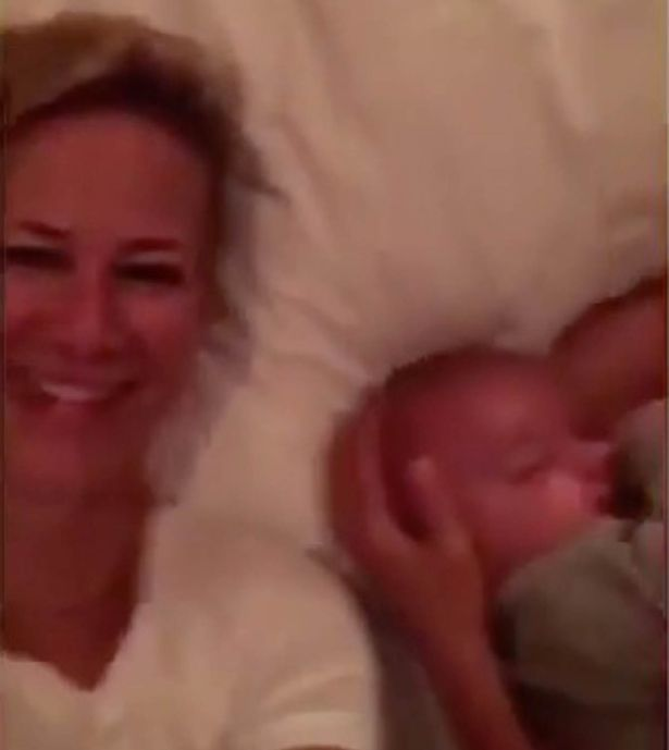 Briana and baby on snapchat