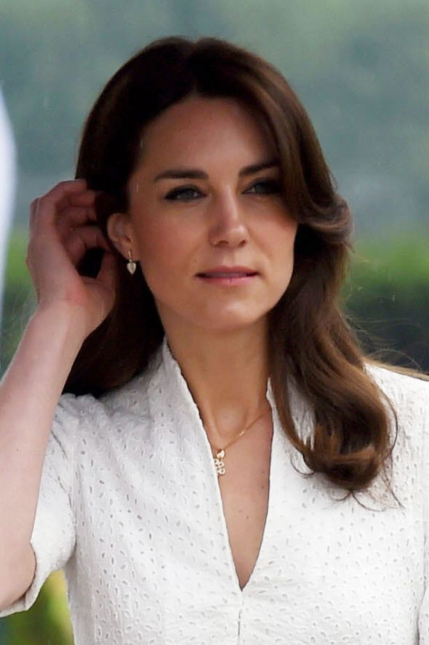 Kate Middleton wore a white Alexander McQueen suit to leave Bhutan