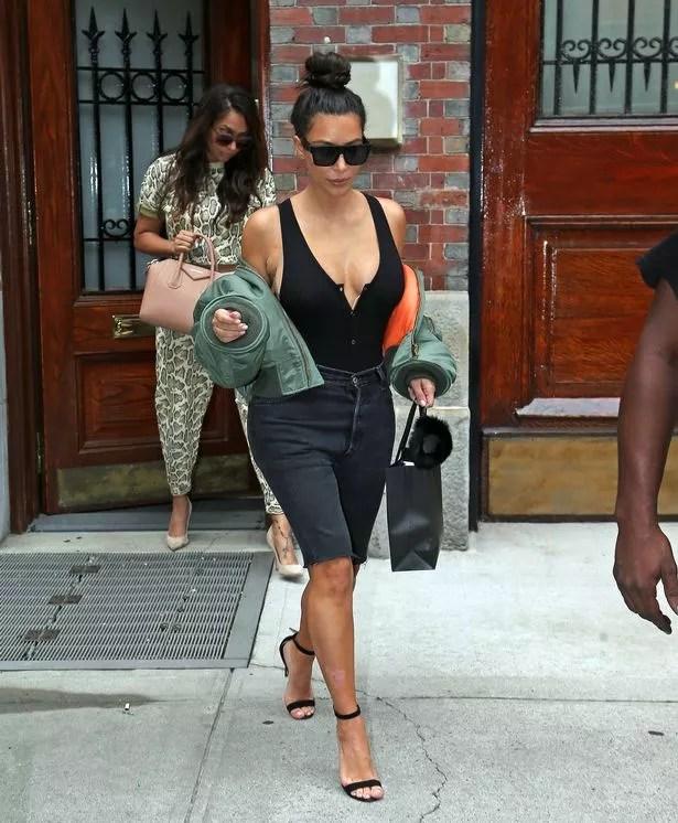 Kim Kardashian leaving a spa on the Upper Eastside in New York City