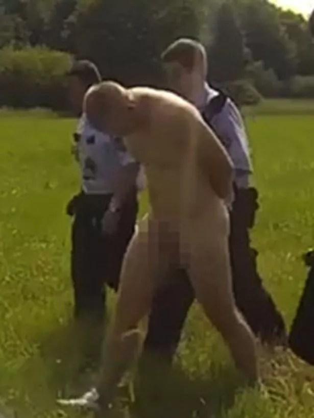 Naked motorbike rider