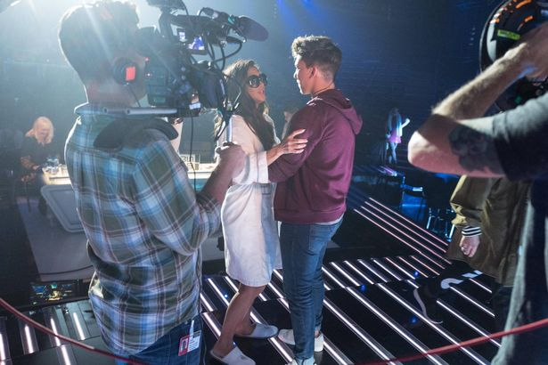 X Factor judges and their contestants are seen in rehearsal for the upcoming weekend of live shows at Fountain Studios, London