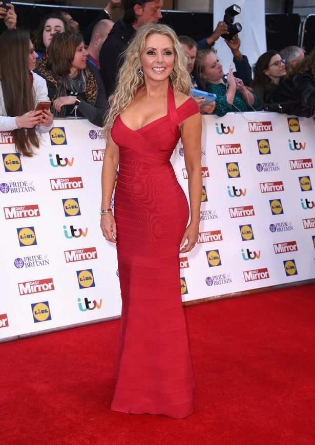 Carol Vorderman at the Pride Of Britain Awards 2015