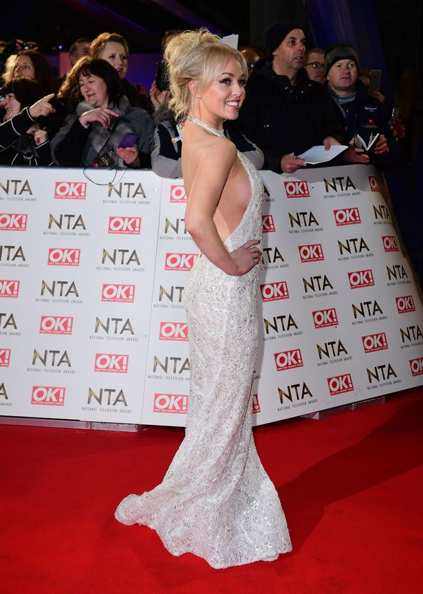 Jorgie Porter arriving at the National Television Awards 2017, held at The O2 Arena, London.