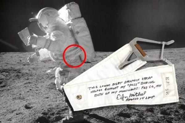 Edgar Mitchell na Lua em 1971.