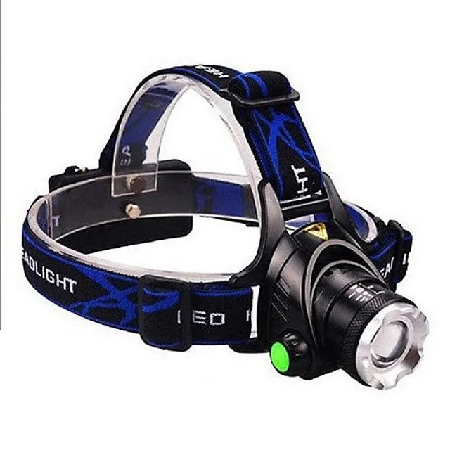 【LOTUS】強光頭燈 伸縮變焦  XM-L2 LED 燈泡 頭燈 自行車燈 配USB充電線
