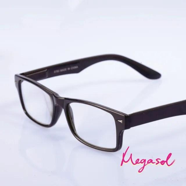【MEGASOL】優質老花眼鏡(簡約粗框-8780)