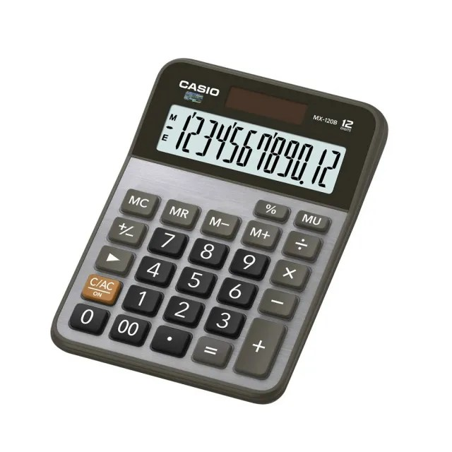 【CASIO卡西歐】12位數雙電源商用計算機(MX-120B)