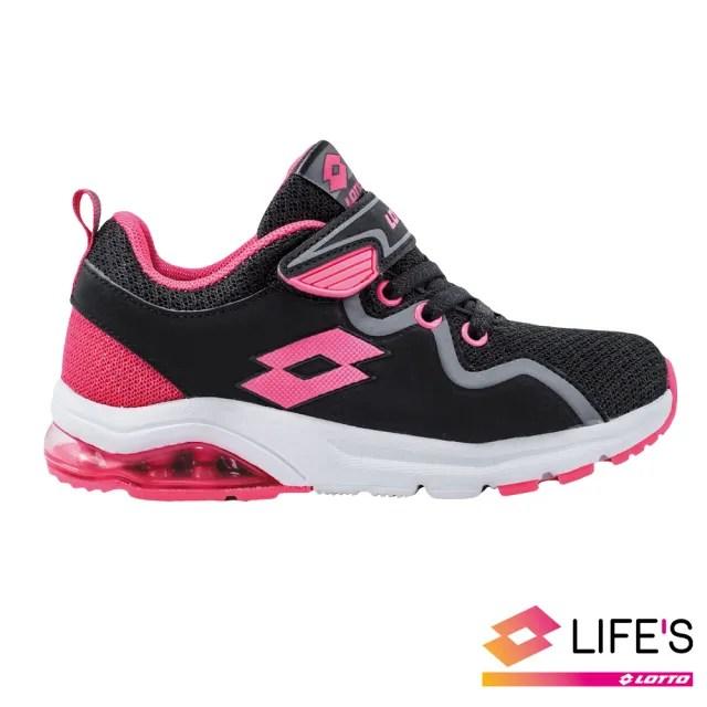 【LOTTO】運動鞋 兒童鞋  VIGOR RIDE 氣墊跑鞋(黑粉-LT9AKR0593)