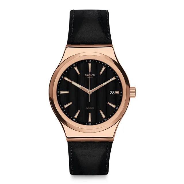 【SWATCH】51號星球機械錶 SISTEM ROSEE 玫瑰金迷(42mm)