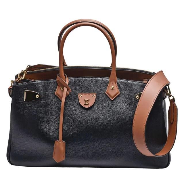 【Louis Vuitton 路易威登】M57160經典ALL SET小牛皮轉釦斜背水桶包(黑色)