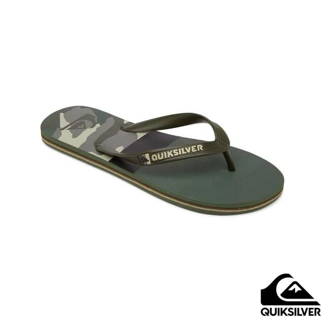 【Quiksilver】男款 男鞋 拖鞋 MOLOKAI PANEL(軍綠)