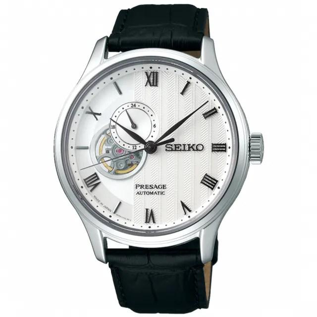 【SEIKO 精工】Presage 絕對風範時尚紳士開芯機械男錶-銀/41.8mm(SSA379J1/4R39-00W0P)