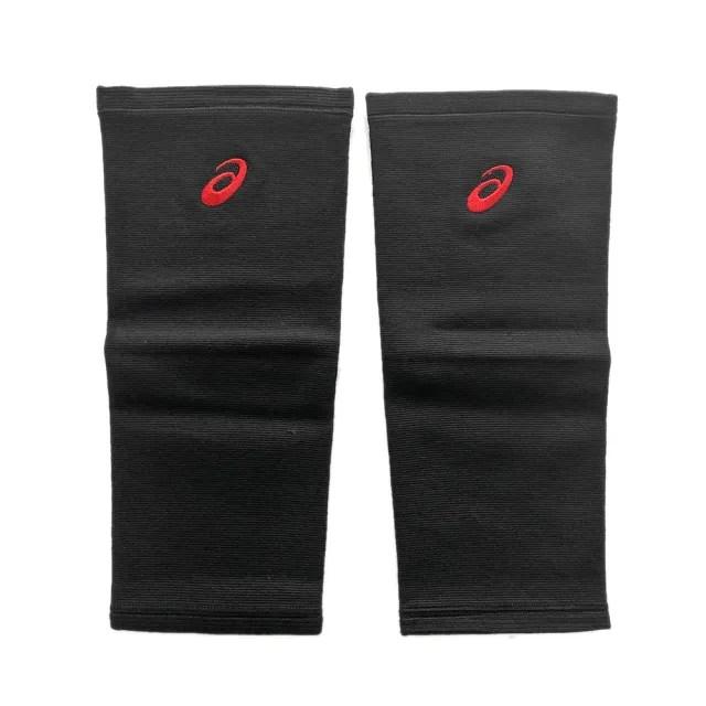 【asics 亞瑟士】Asics Knee Pads 護膝 長版 排球 巧固球 運動 保護 支撐 透氣 一雙入(Z31904-9023)