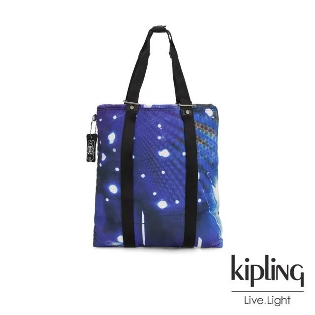 【KIPLING】仰望星空大容量手提帆布包-LOVILIA