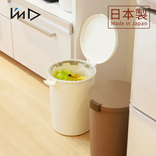 【日本岩谷Iwatani】圓形可分類密封防臭垃圾桶-12.4L