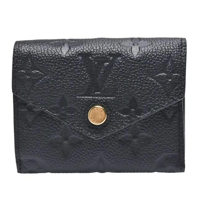 【Louis Vuitton 路易威登】M62935經典ZOE系列Empreinte皮革壓花三折暗釦短夾(黑色)