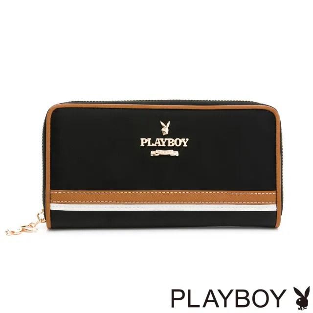 【PLAYBOY】ㄇ拉長夾 質感玩家3.0系列(黑色)