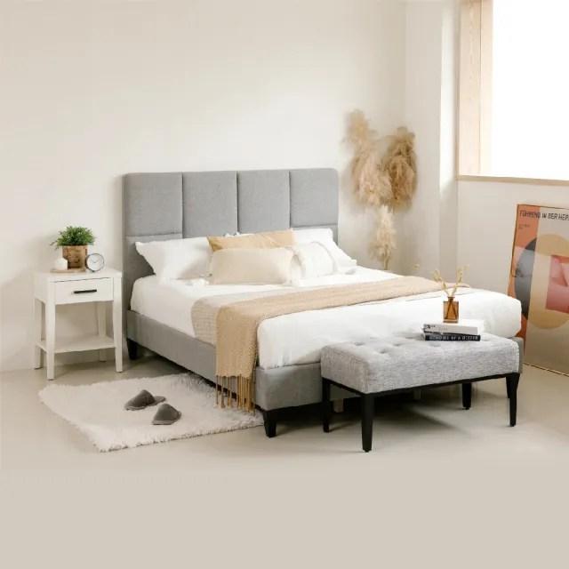 【FL 滿屋生活】FL Buri 布利 - 6尺現代簡約實木高背床架(實木床架/高背床架/人氣款/雙人加大/6x6.2尺)