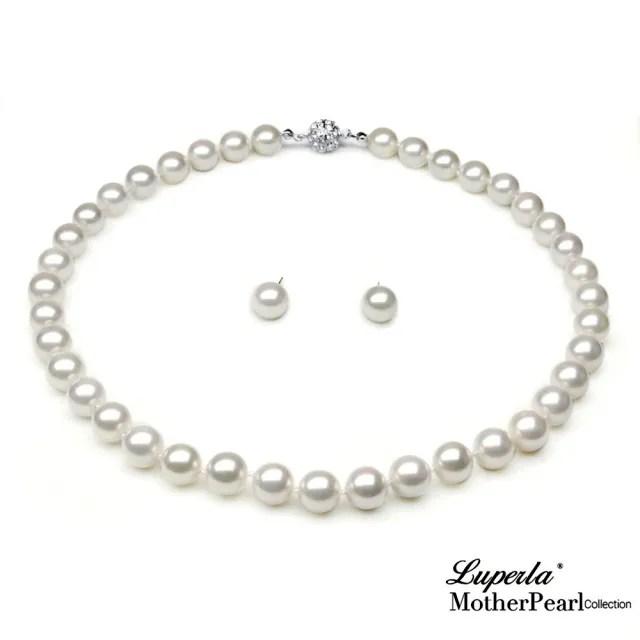 【大東山珠寶】10mm南洋貝寶珠項鍊套組(白)