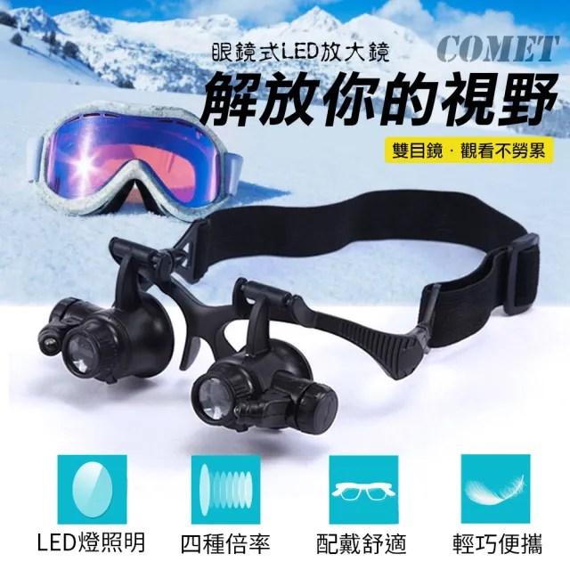 【COMET】眼鏡式LED照明放大鏡(9892GJ)