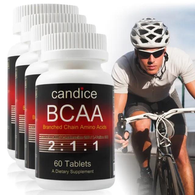 【Candice 康迪斯】康迪斯BCAA支鏈胺基酸錠(60錠*4瓶)
