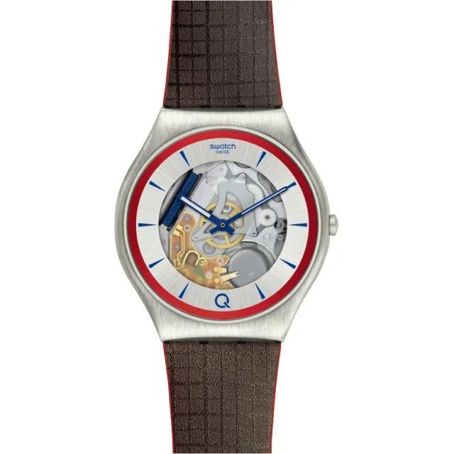 【SWATCH】Skin Irony 超薄金屬系列手錶 ☆Q 42mm Q博士(007電影限量商品)