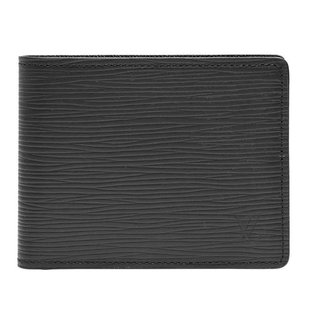 【Louis Vuitton 路易威登】M60332 EPI水波紋SLENDER對折短夾(黑)