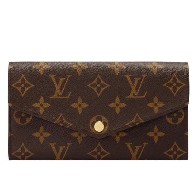 【Louis Vuitton 路易威登】M62234 SARAH系列經典Monogram帆布印花暗釦長夾(紫紅)