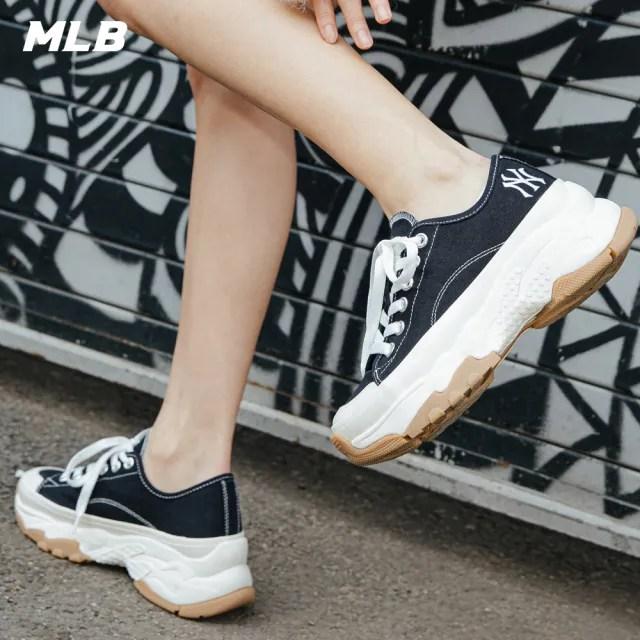 【MLB】低筒帆布老爹鞋 Chunky High 紐約洋基隊(32SHU2111-50L)