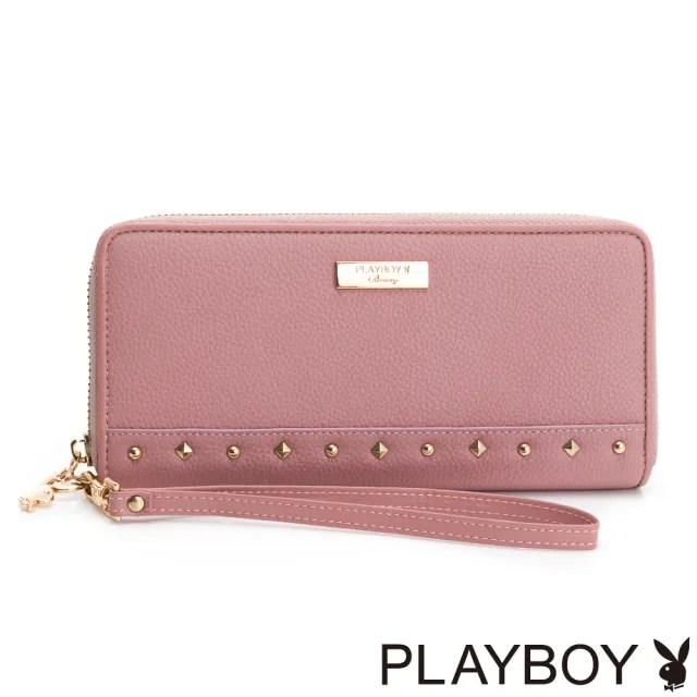 【PLAYBOY】ㄇ拉長夾附手挽帶 輕搖滾系列(粉色)