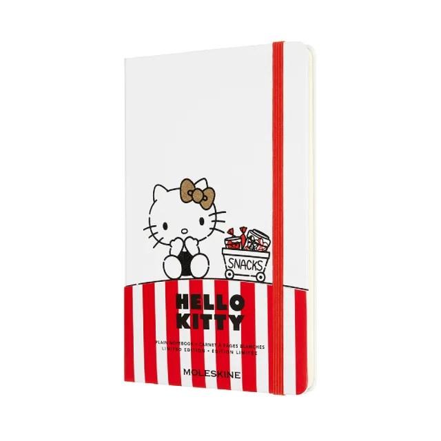 【MOLESKINE】HELLO KITTY限量筆記本(白色L型空白)