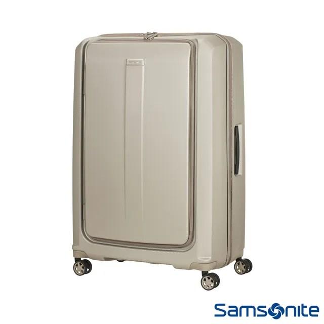 【Samsonite 新秀麗】25吋Prodigy 1:9前開式 PC防刮雙扣鎖行李箱 香檳金/黑(00N)