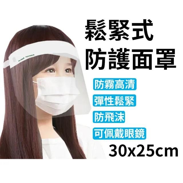 台灣製 鬆緊式防護面罩 32x22cm(2入1包)