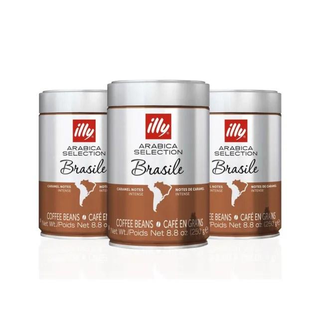 【illy】巴西單品咖啡豆3件組(250gx3)