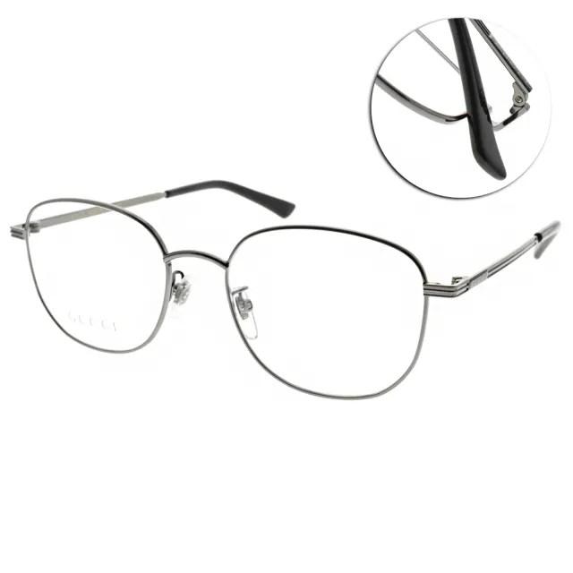 【GUCCI 古馳】光學眼鏡 時尚圓框款(槍灰-黑#GG0838OK 004)