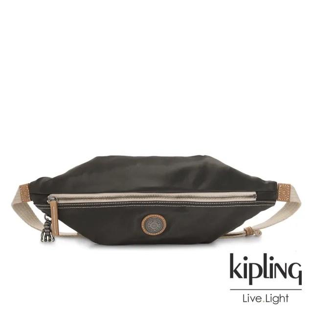 【KIPLING】邊緣地帶極致黑六角腰包-YOKU