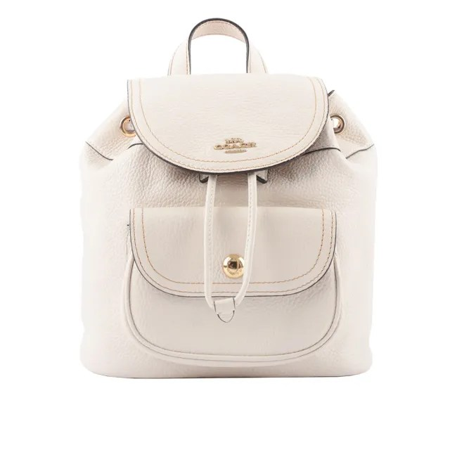 【COACH】Pennie 新款口袋後背包(白色)