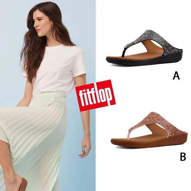 【FitFlop】BANDA II QUARTZ TOE-THONGS折射水鑽裝飾夾腳涼鞋-女(共3款)
