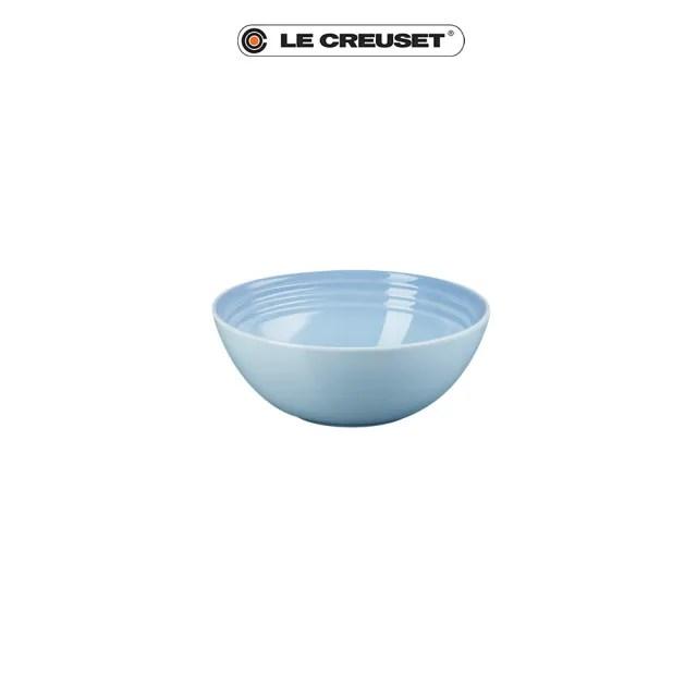【Le Creuset】瓷器早餐穀片碗16cm(海岸藍)
