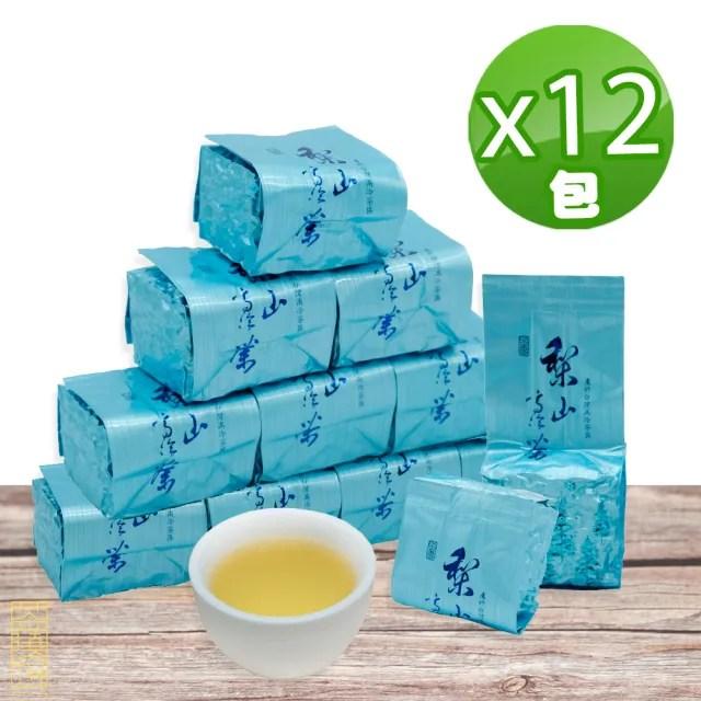 【茶曉得】梨山比賽級高冷烏龍茶葉75gx12包(1.5斤)