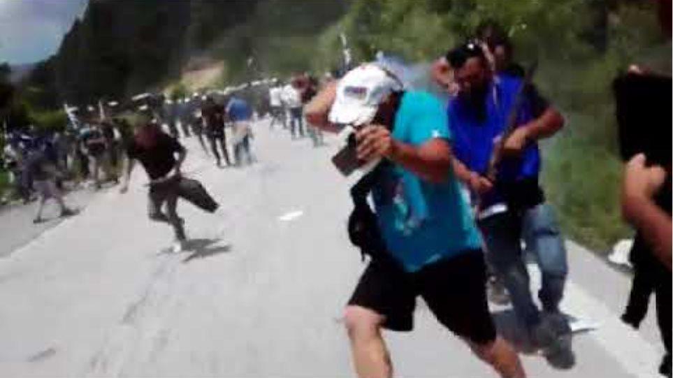 Επεισόδια στο συλλαλητήριο στο Πισοδέρι- Voria.gr
