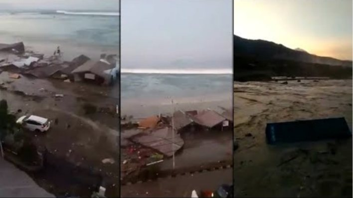 SCARY TSUNAMI IN INDONESIA (SEPT 28, 2018)