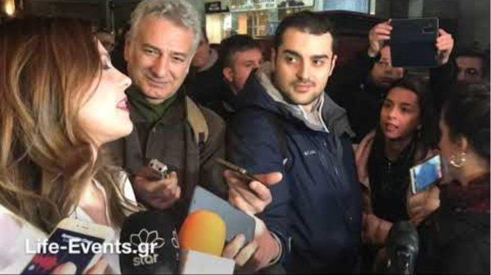 Νεαρή γυναίκα διέκοψε τις δηλώσεις Αχτσιόγλου